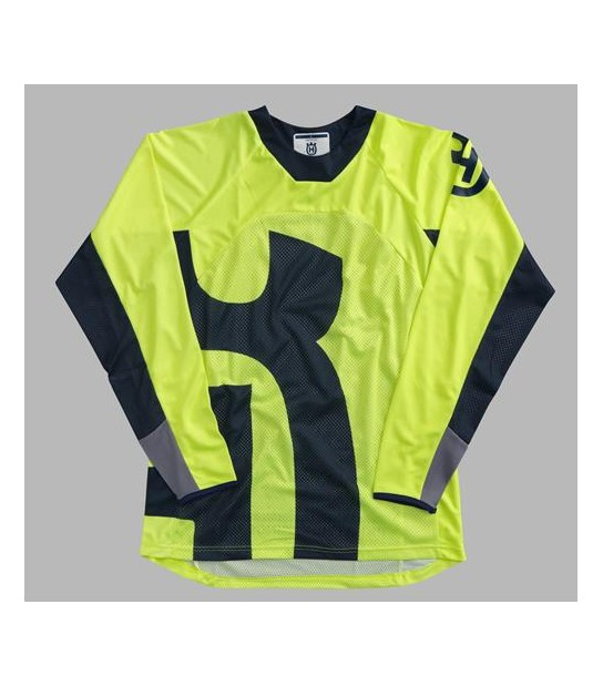 RAILED SHIRT YELLOW HUSQVARNA
