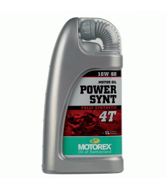 ACEITE MOTOREX POWER SYNT 10W60 4T BOTELLA 1L