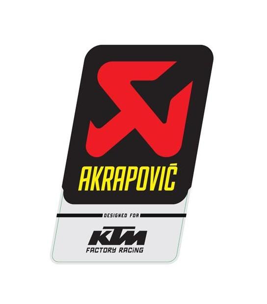 ADHESIVO AKRAPOVIC 75X130 MM