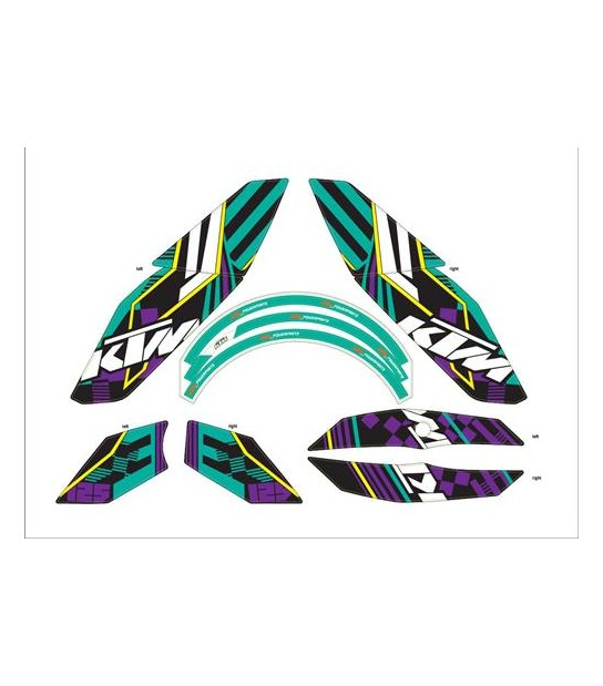 KIT ADHESIVOS GRAPHIC FUNKY KTM DUKE 2011/2014