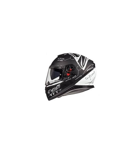 CASCO INTEGRAL MT THUNDER BOARD NEGRO / BLANCO MATE