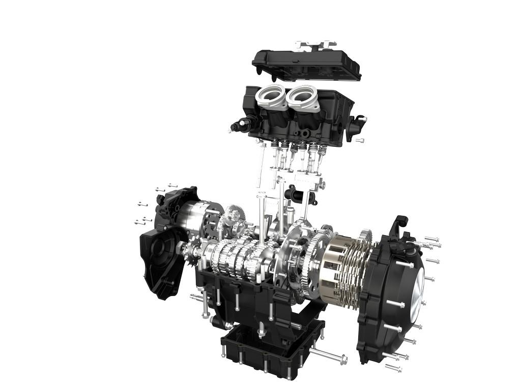 Motor de la TRK 502 despiezado