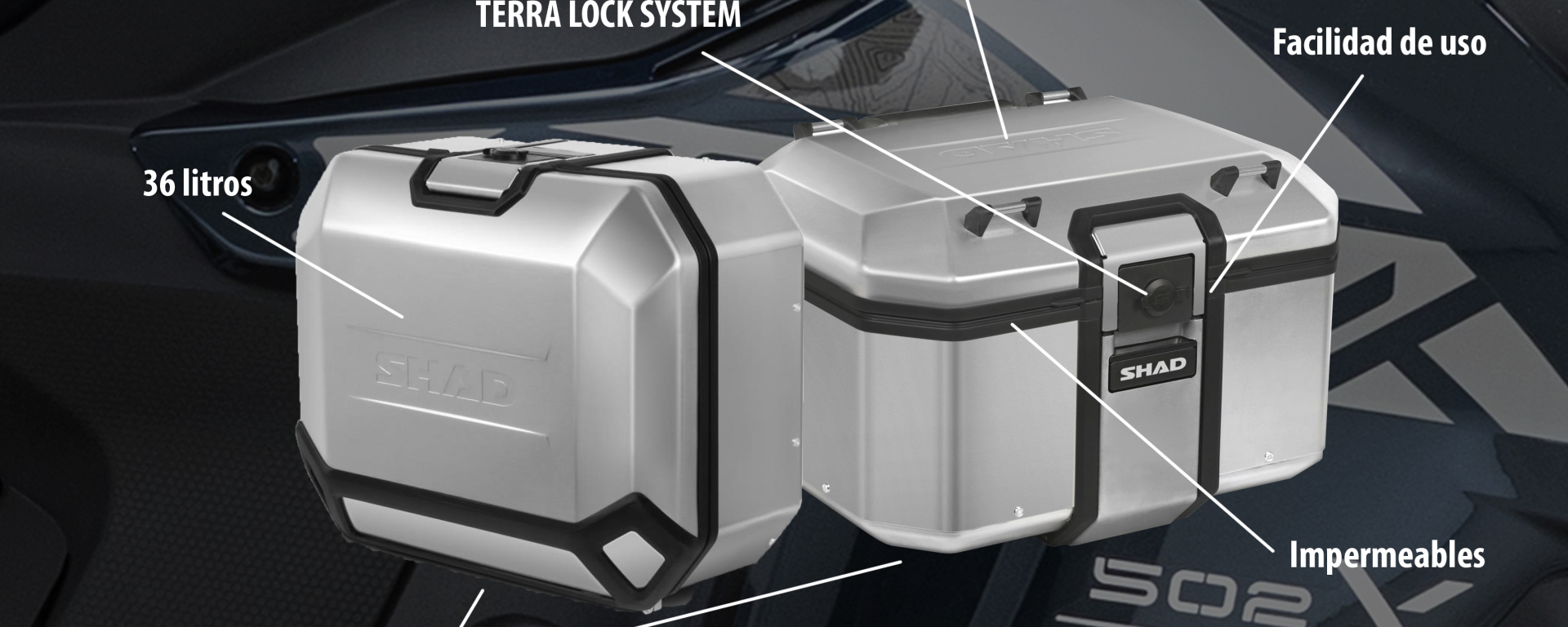 TRK 502 X con maletas Terra