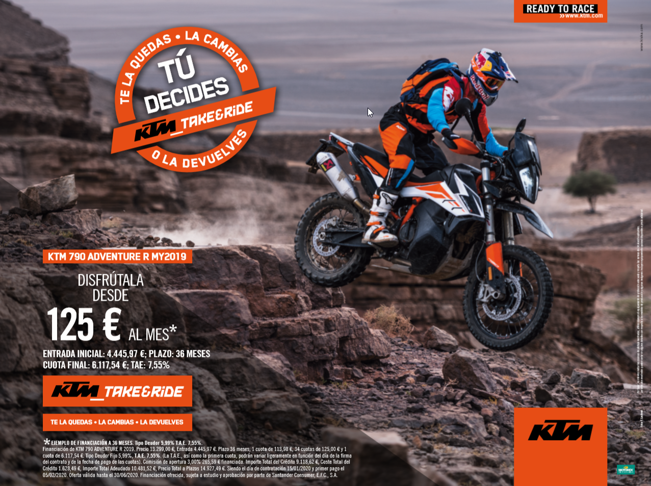 KTM Adventure 790 financiación TAKE&RIDE desde 125€ al mes